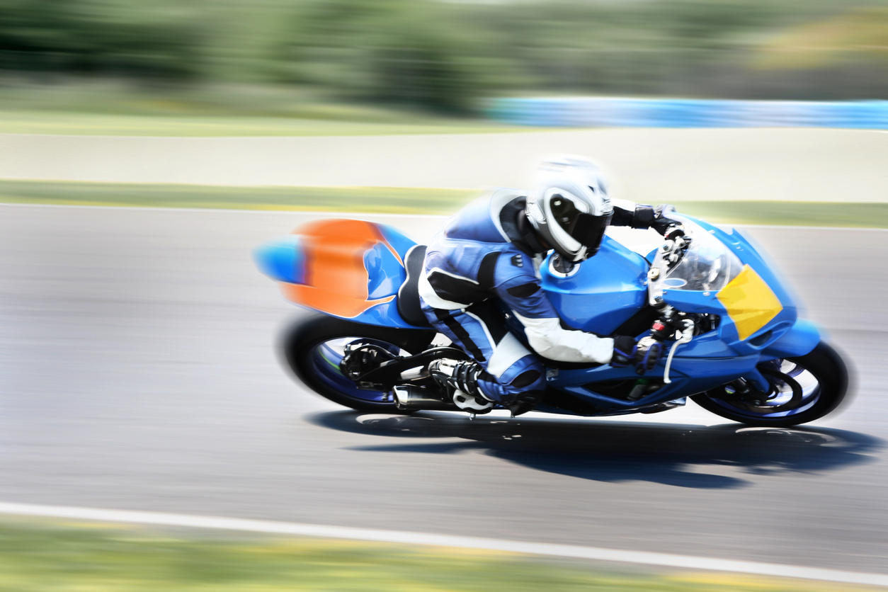 Highspeed Motorbike Racer on Closed Track